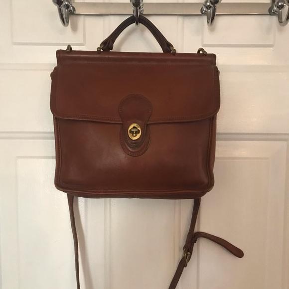 Coach Handbags - Coach Vintage Brown 9927 Leather Satchel Bag 5e9c90a723205